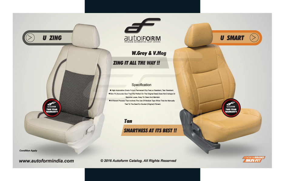 tan art leather seat covers for baleno